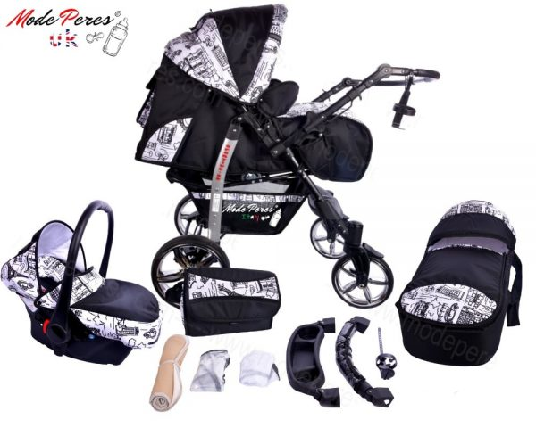 x3 Sportive x2 3in1 Black & White Design