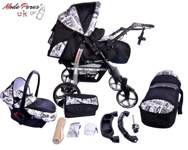 x3 Sportive x2 3in1 Black & White Design