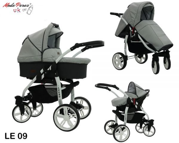 09 Legro Lux 3in1 Grey & Damask