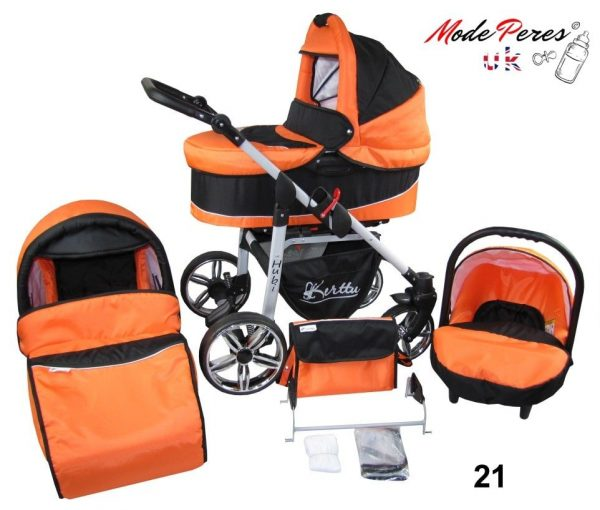 21 Hubi 3in1 Orange & Black