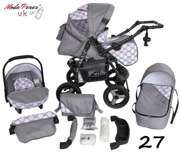 27 Twist 3 in1 Gray & White Design