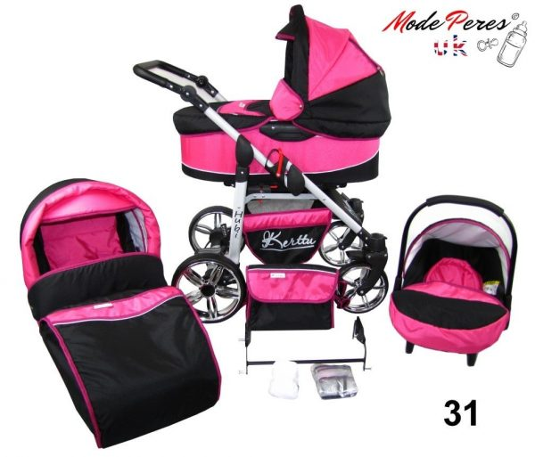 31 Hubi 3in1 Pink & Black