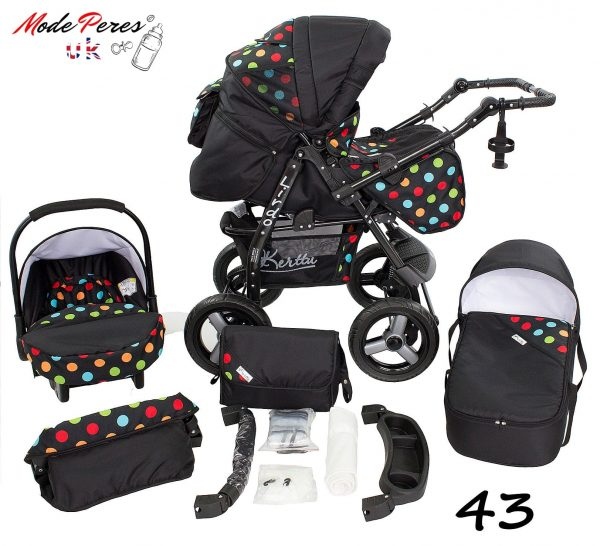 43 Lirdo 3in1 Black with Coloured Dots