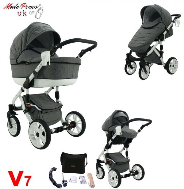 07 VALERO 3in1 Dark Gray & White