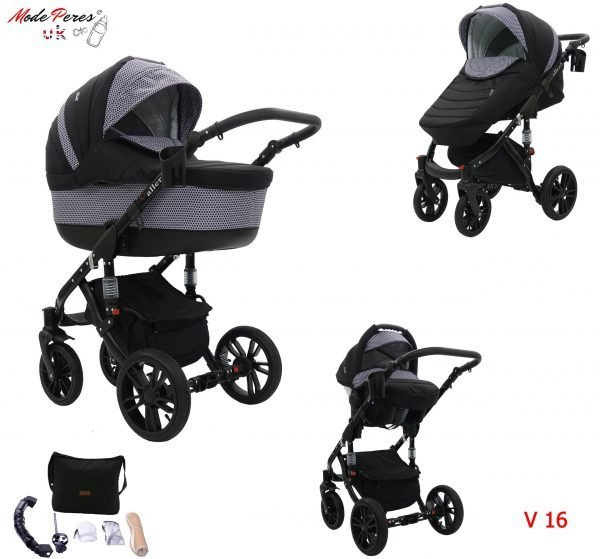 16 VALERO 3in1 Black & Dark Gray