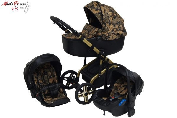 ST-08 Stilo Gold 3in1 Black & Gold Flowers