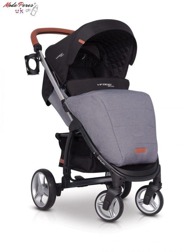01-1 Euro Cart VIRAGE ECCO Stroller Anthracite