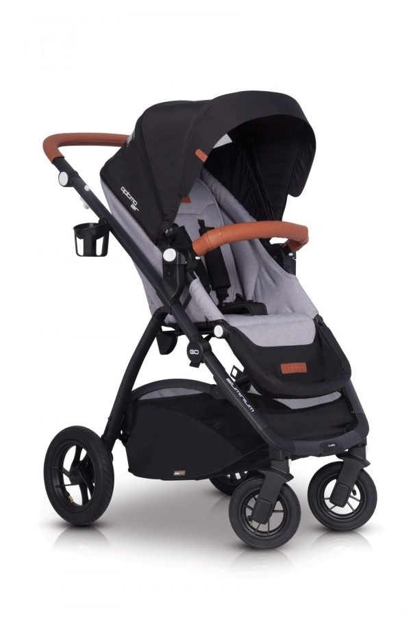 03 Euro Cart OPTIMO AIR Stroller Grey Fox