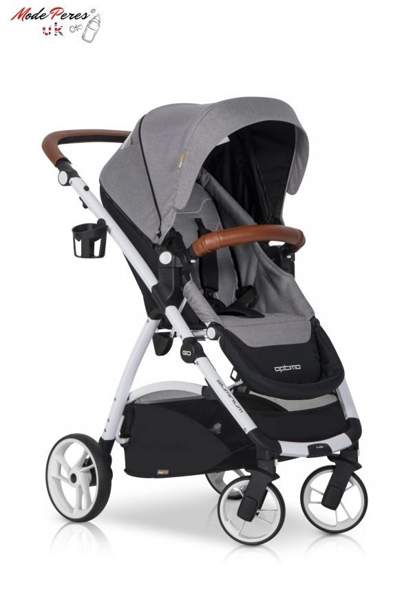 04 Euro Cart OPTIMO Stroller Grey Fox